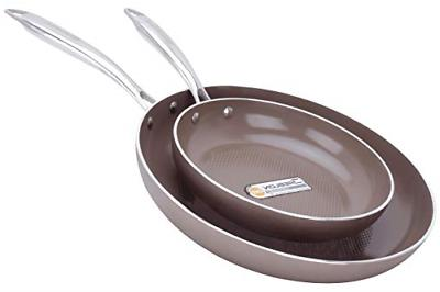 WaxonWare 8.5 & 12 Inch Ceramic Nonstick Frying Pans, Non To