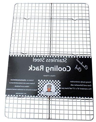 Checkered Cooling Rack Baking Rack. Steel Oven Fits Sheet Pan
