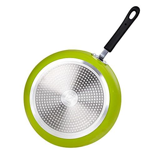 Cook Frying Pan with Non-Stick Large, Green