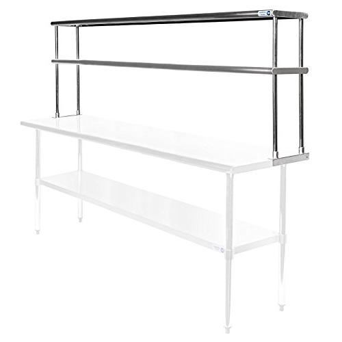 GRIDMANN NSF Stainless Steel Commercial 2 Tier Double Oversh
