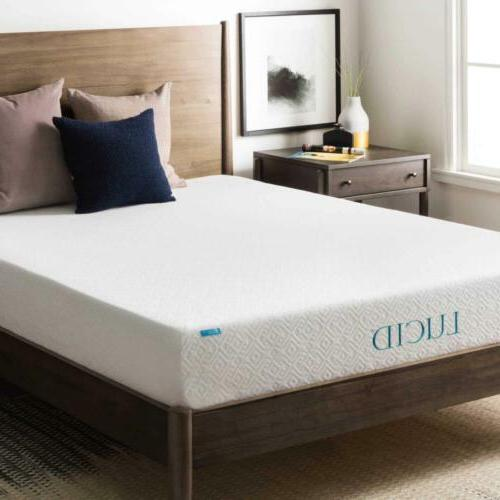 LUCID Comfort Collection 8-inch Twin-size Gel Memory Foam Ma