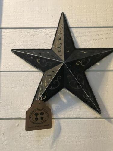 antique black lacy star 12 inch