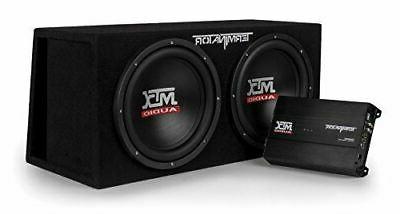 audio tnp212dv dual 12 subwoofer vented enclosure