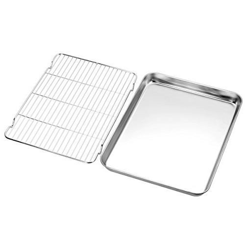 Baking Set, pan with & sheets Rectangle Size 12.5 x 1 & Non Toxic Healthy,Superior Finish Easy
