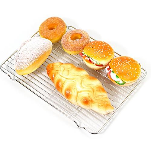 Baking sheets and Set, Zacfton with Nonstick Rack & Cookie sheets Rectangle Size 12.5 x x 1 & Toxic Healthy,Superior Easy