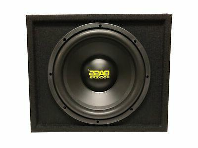 "Bass Rockers | 12"" inch 1200W Subwoofer Enclosure Ported Box"