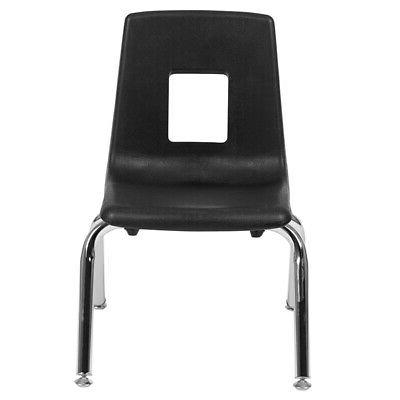 black student stack school chair 12 inch