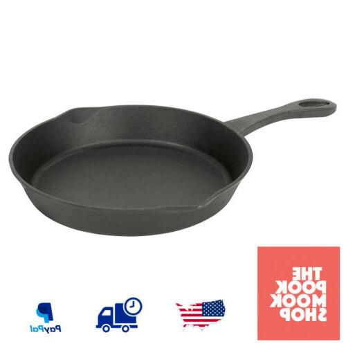 Cast Iron 12-Inch Skillet Cookware, Baking Pans Black Kitche