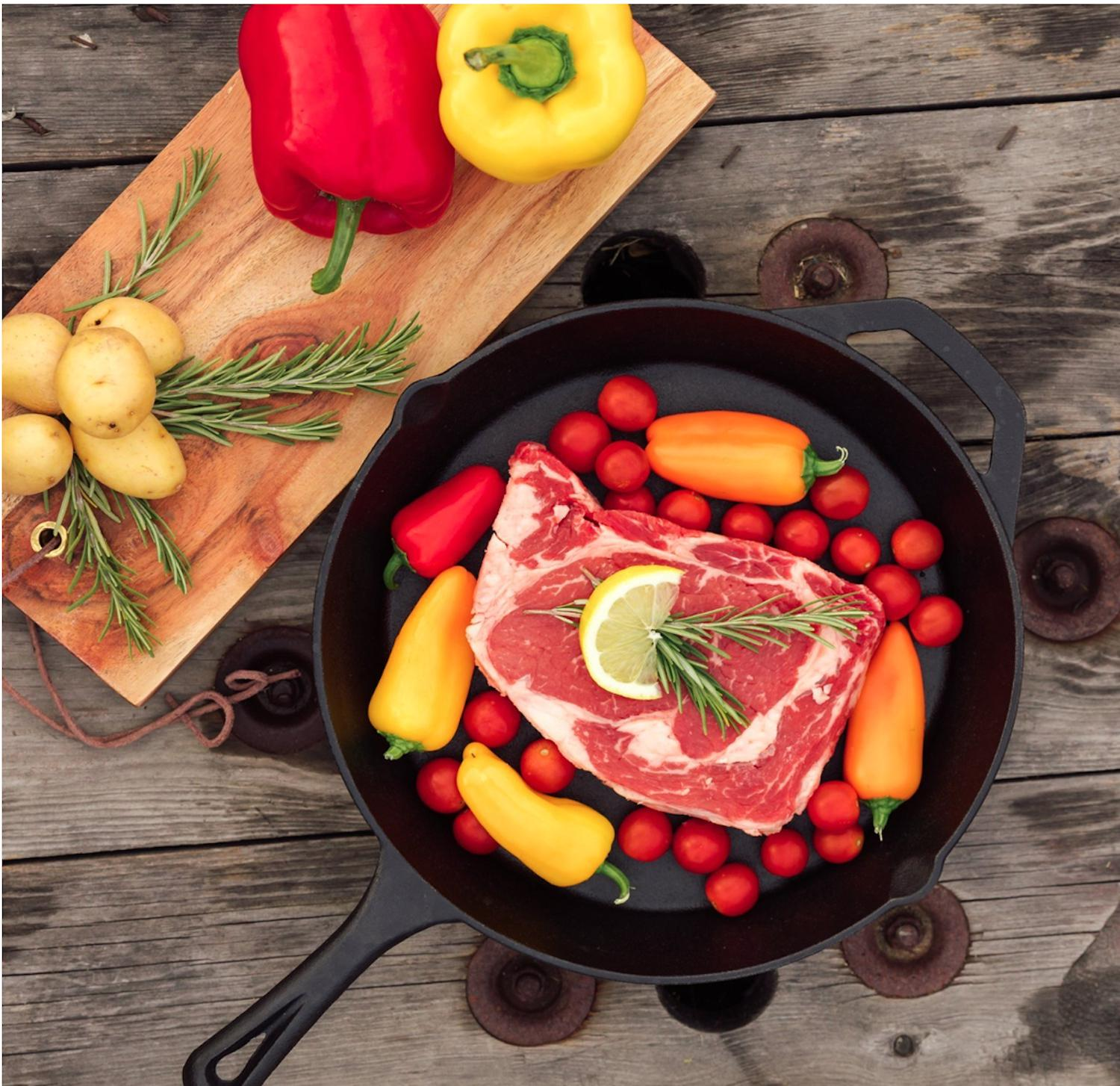 Cast Inch Pan Oven Cooking Cookware
