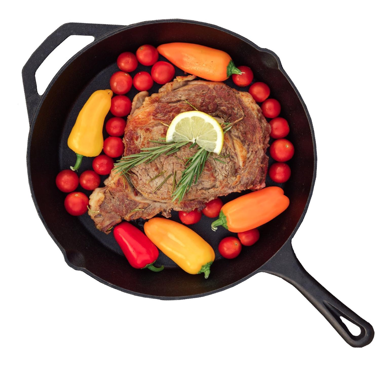 Cast Iron Skillet 12 Inch Oven Cooking Pre Cookware