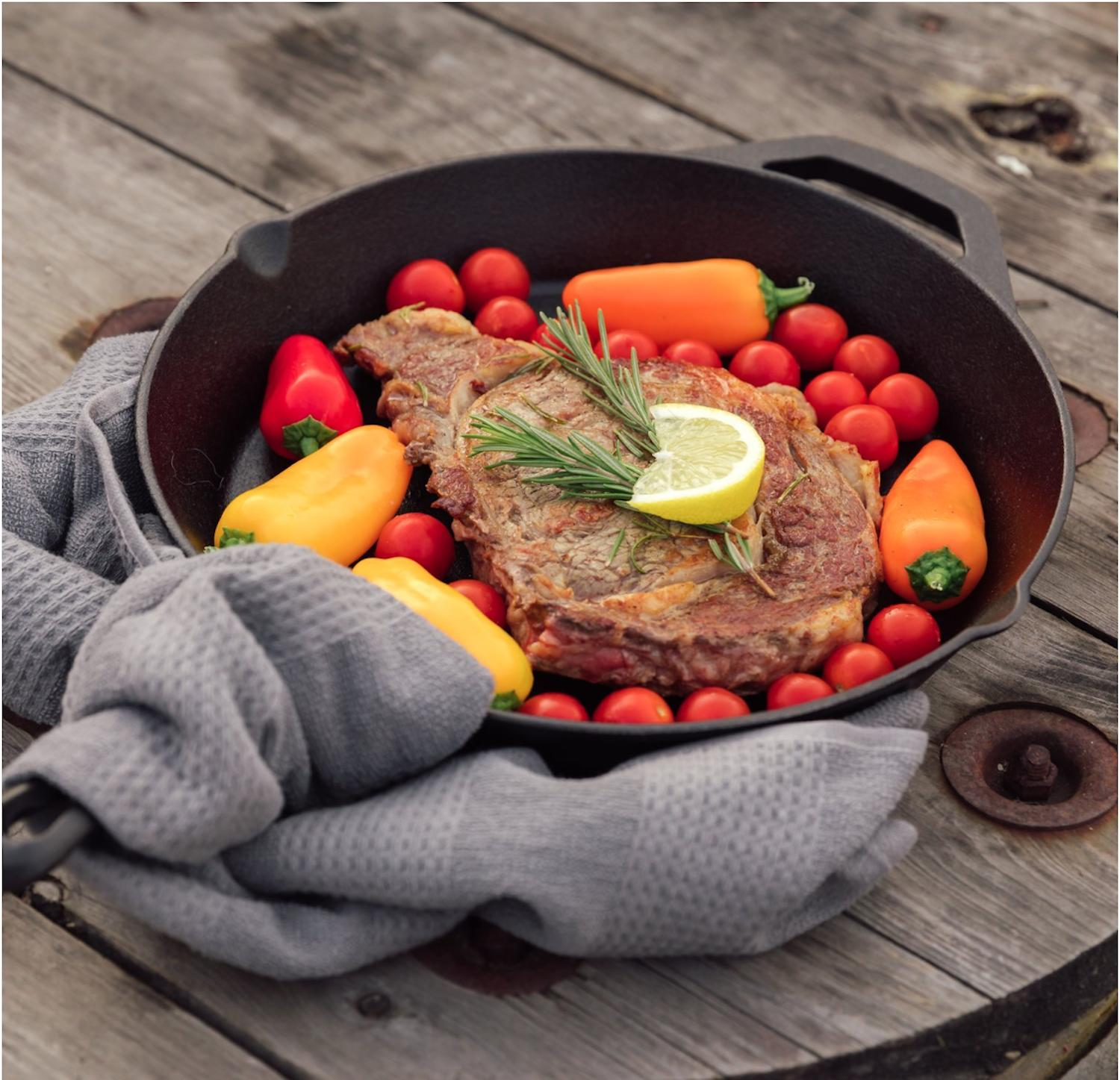 Cast Iron Inch Frying Pan Oven Cooking Seasoned Cookware