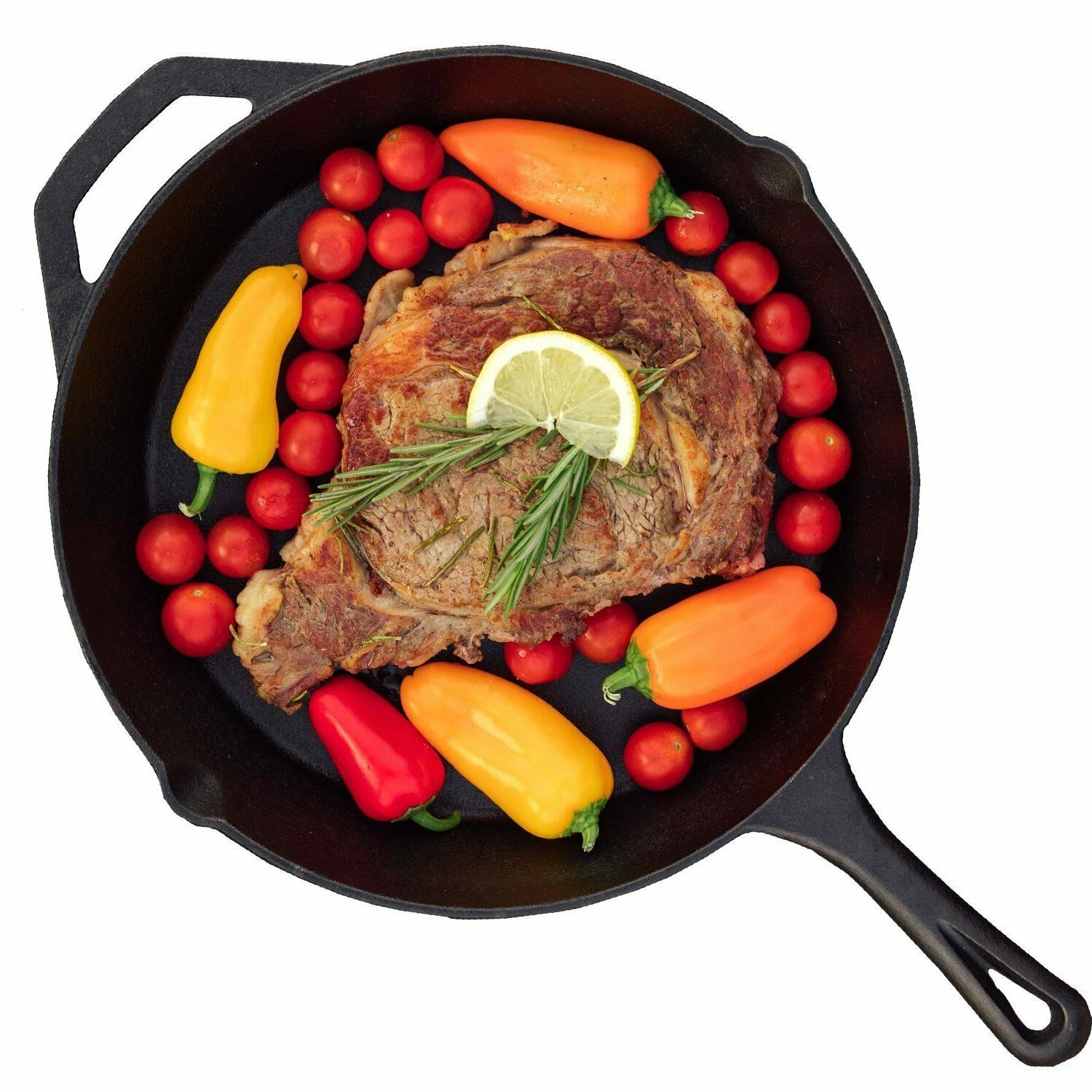 Cast iron skillet Inch Cookware Pot Oven Cooking Fry Pan