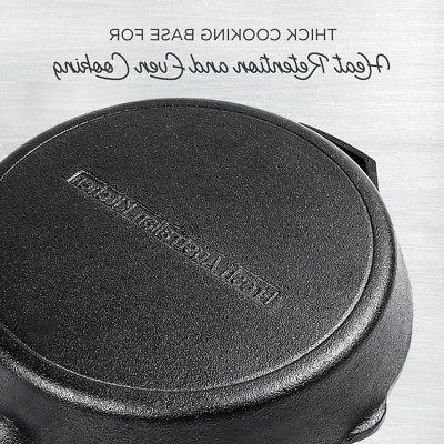 """NEW 12 Inch Cast Skillet Pan. 12"""" W/"""