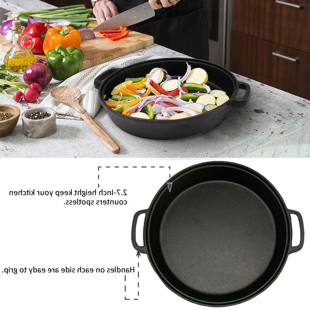 Cast Tempered Glass Double Pan