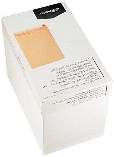 AmazonBasics Catalog Envelopes, & Seal, 9 12 250-Pack