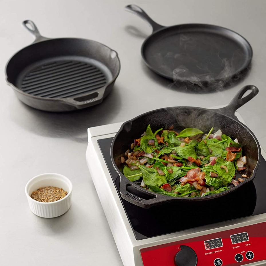 Lodge Cast Iron Skillet with Handle 12