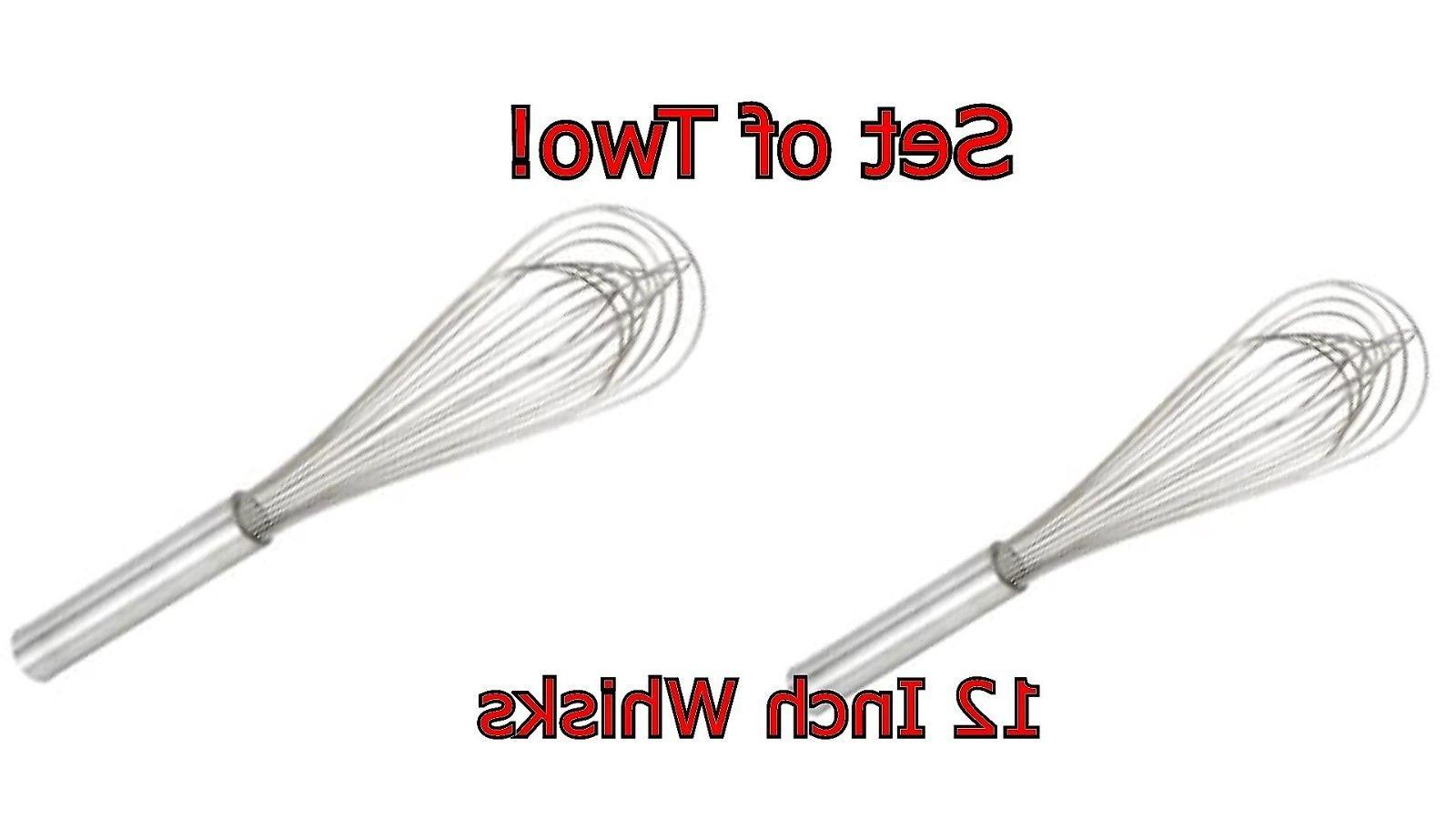 cooking whisk by winware stainless steel 12