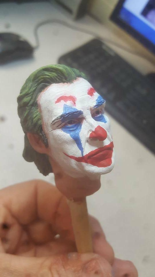 custom painted joaquin phoenix joker head