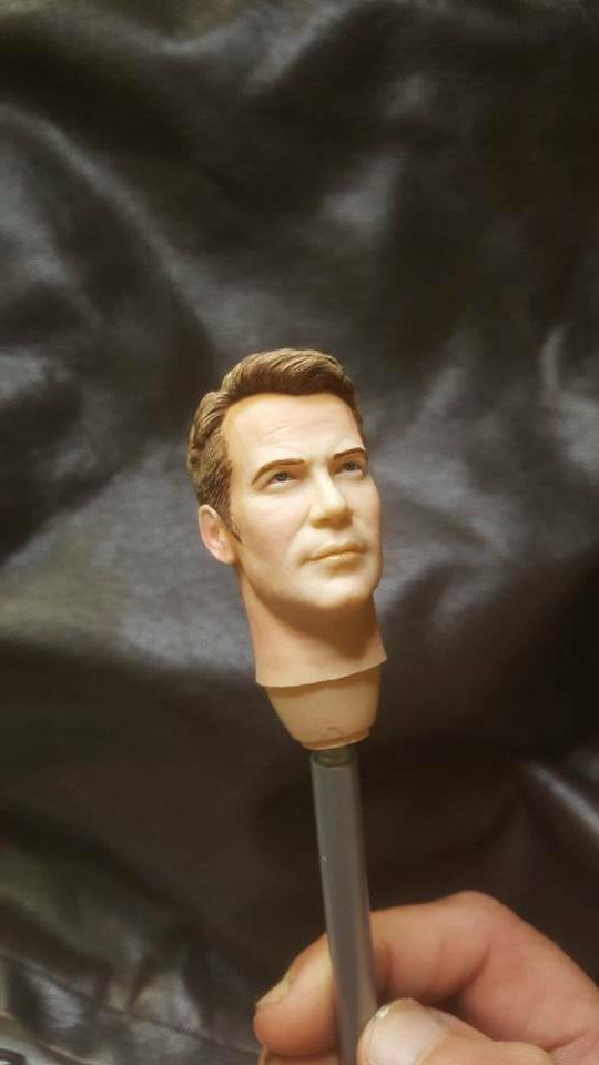 Custom painted star captain kirk for 12 inch figure