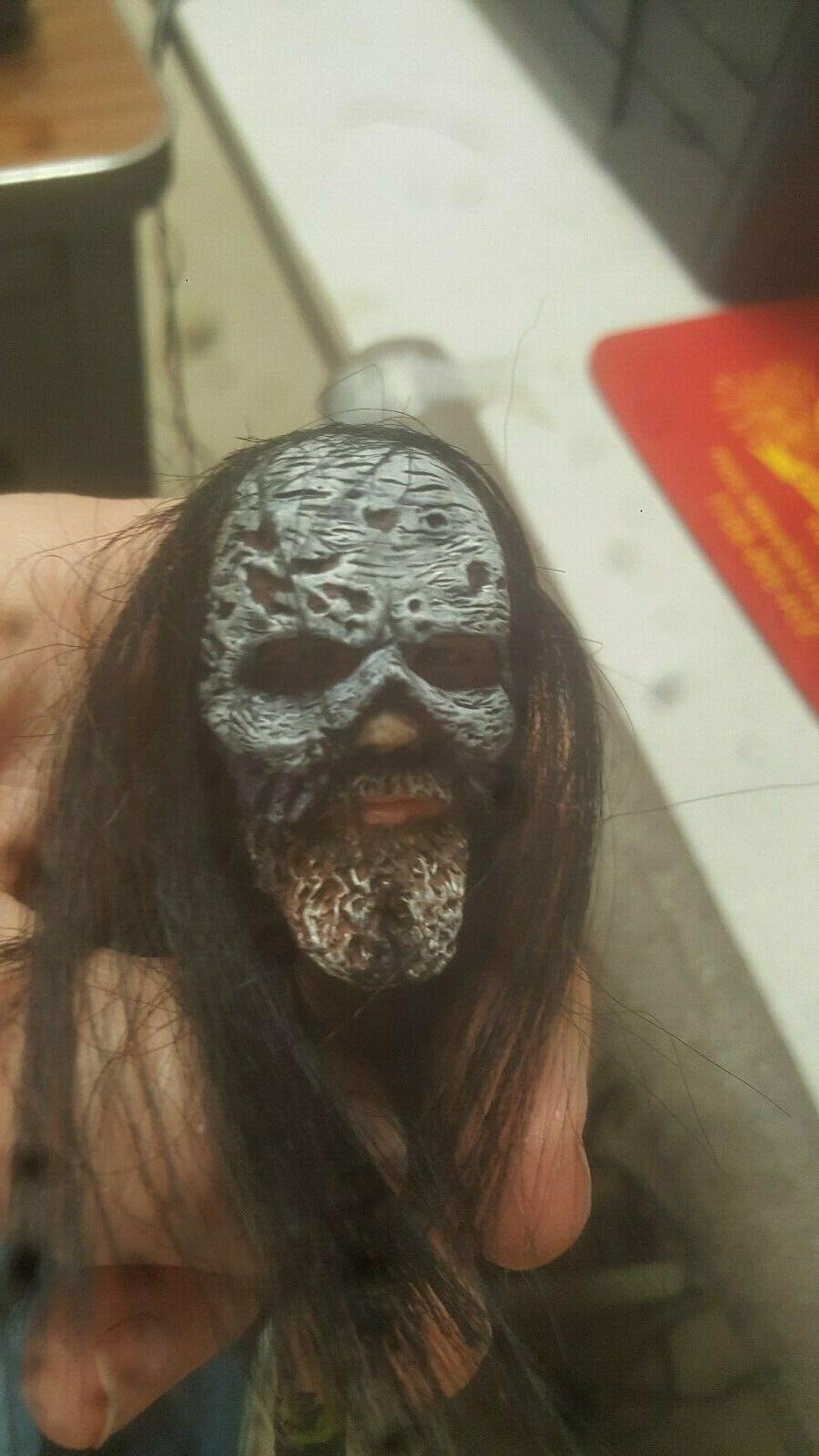custom painted walking dead beta head with hair