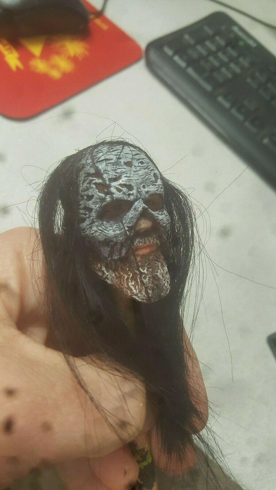 custom painted walking dead beta head
