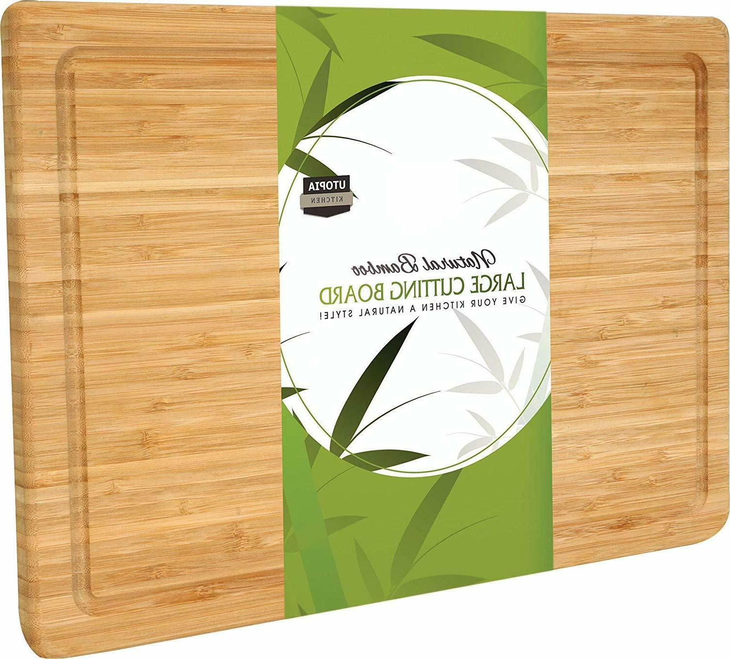 cutting board extra large bamboo 18 by