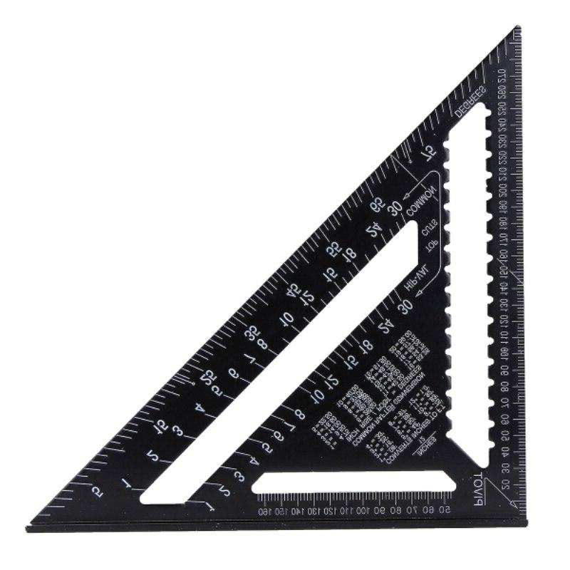 <font><b>12</b></font> Alloy Triangle Ruler Protractor Woodworking 30cm Layout Gauge