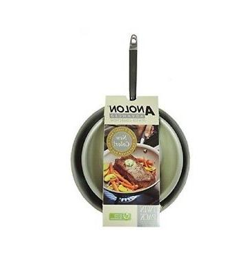 """Anolon Skillet Twin 10"""" & 12"""" Collection with Lids"""