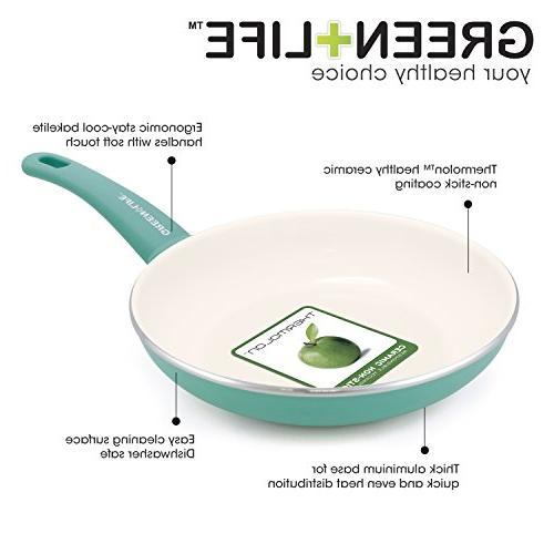 GreenLife Soft Grip Ceramic Non-Stick Frypan, Turquoise