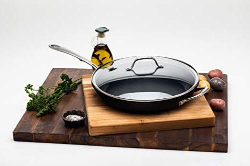 Kitchara Inch Pan, Non Skillet with Glass