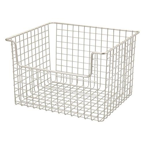 mDesign Wire Organizer Basket for Kitchen Cabinets, Pantry, Closets, Bathrooms – x