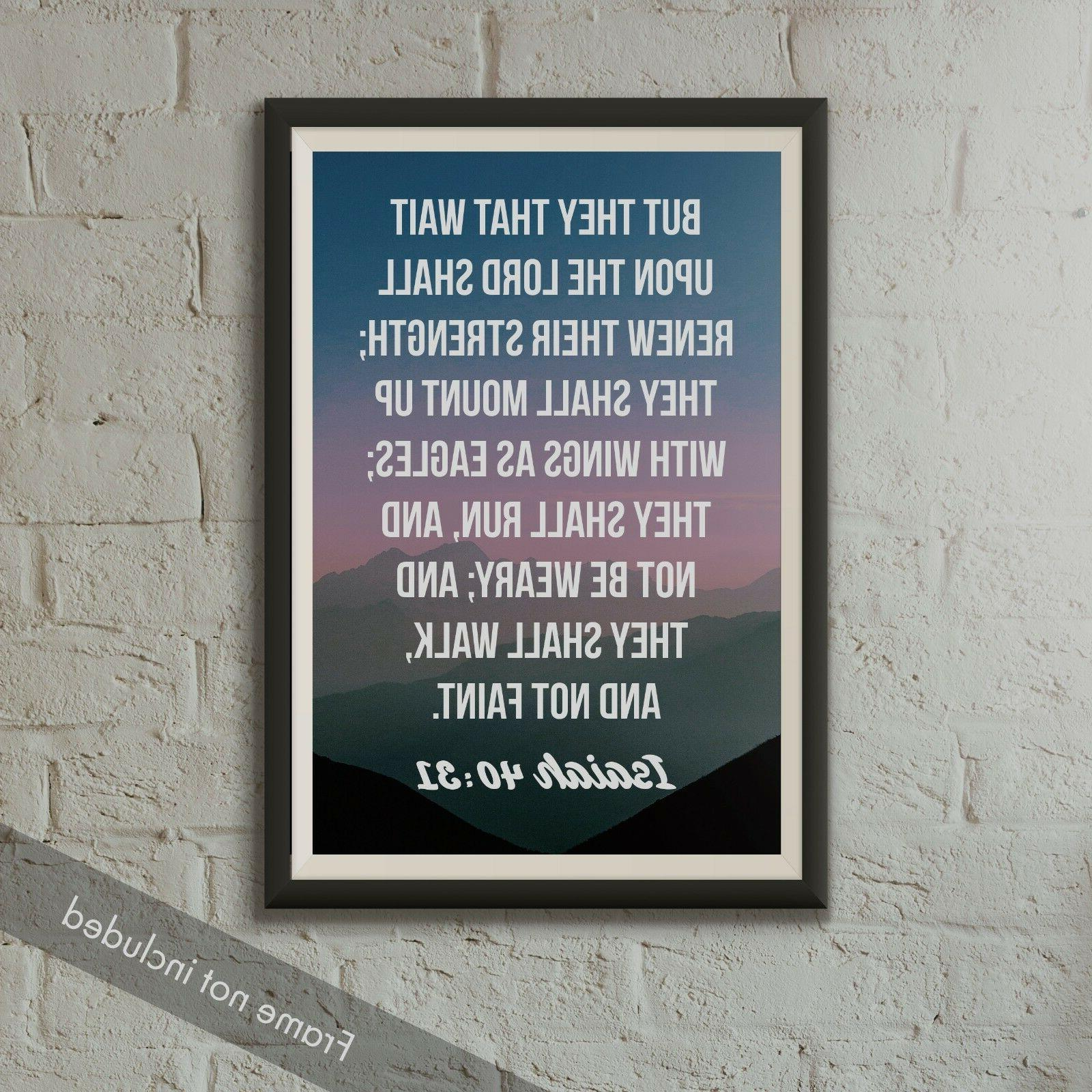 Isaiah Verse Poster 18-Inches By 12-Inches Christian