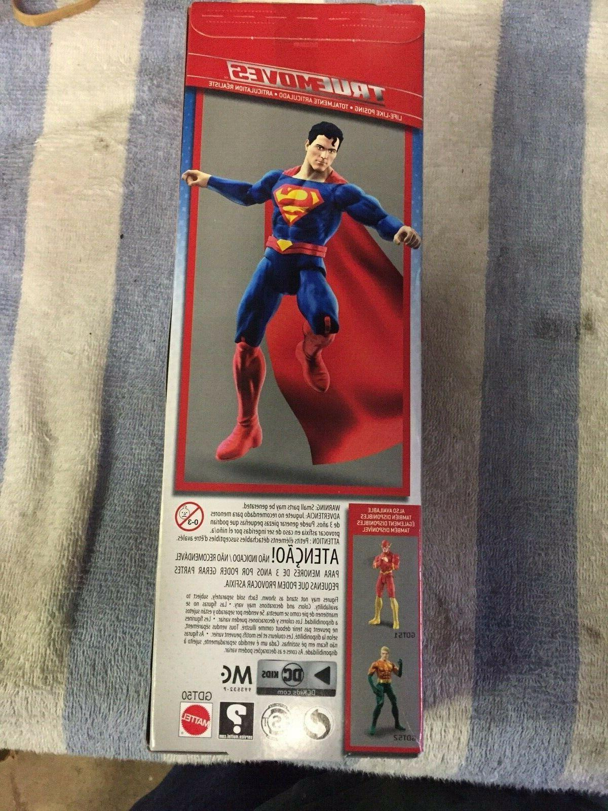 DC Justice SUPERMAN and THE 12-Inch TRUE Action Figure