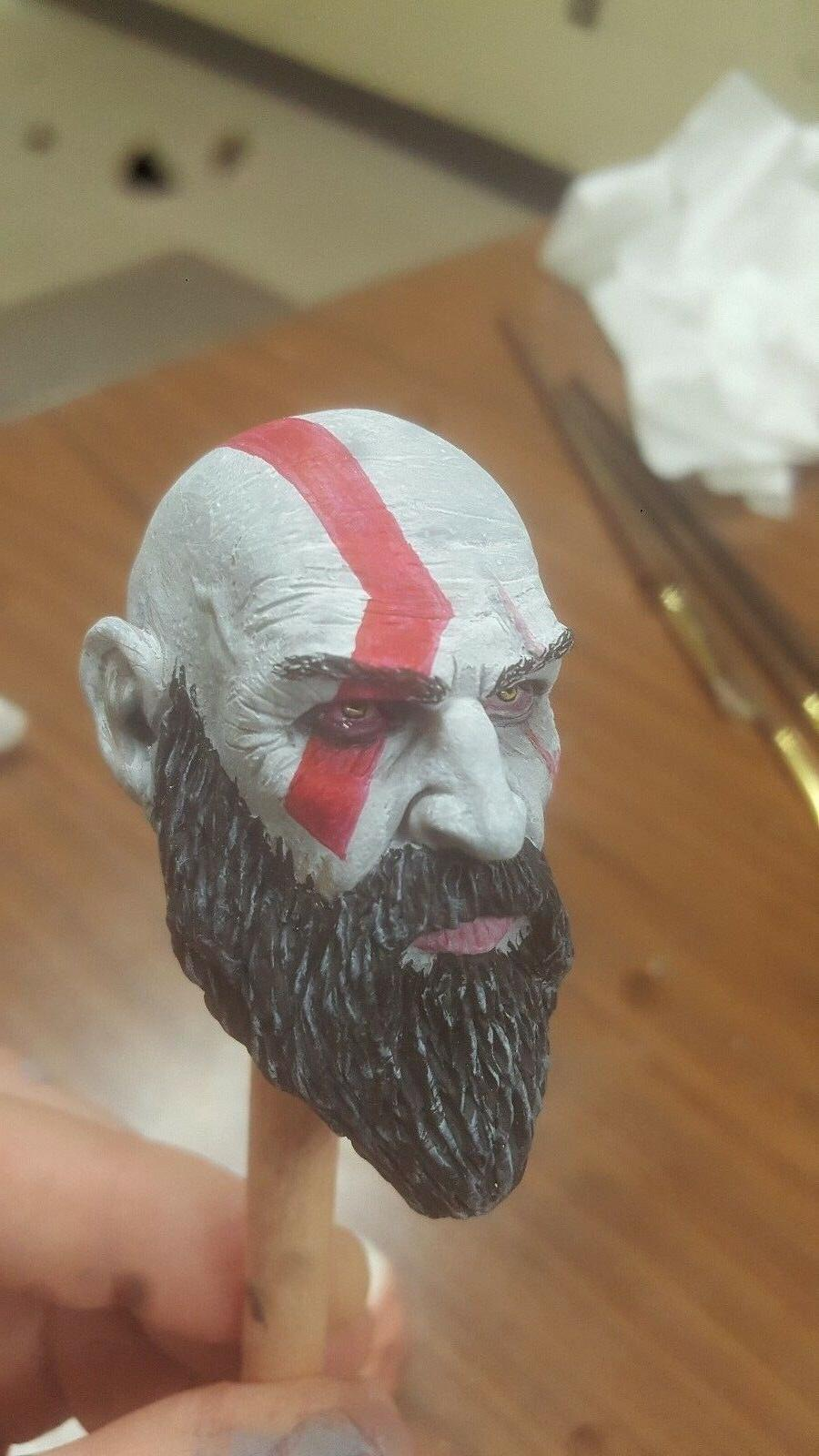Kratos painted head inch 1/6