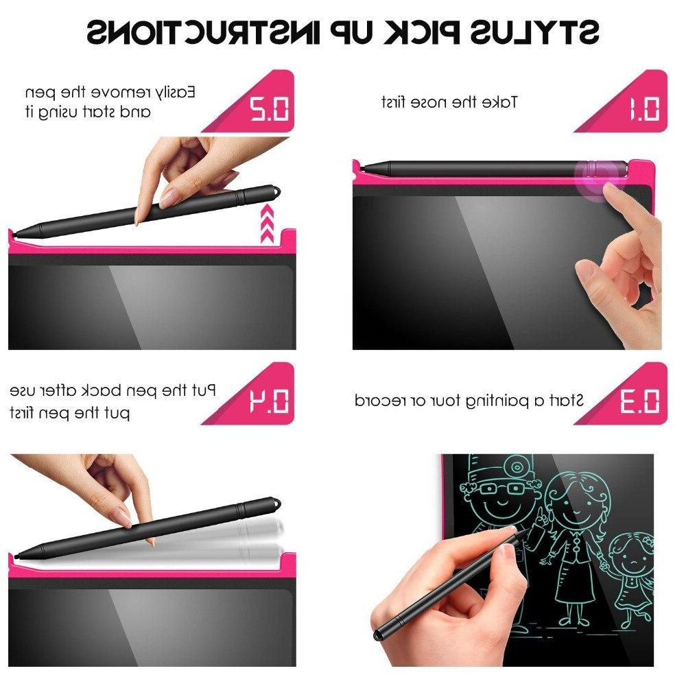 NeWYeS LCD Writing Tablet <font><b>12</b></font> Electronic Graphics Board Doodle pen