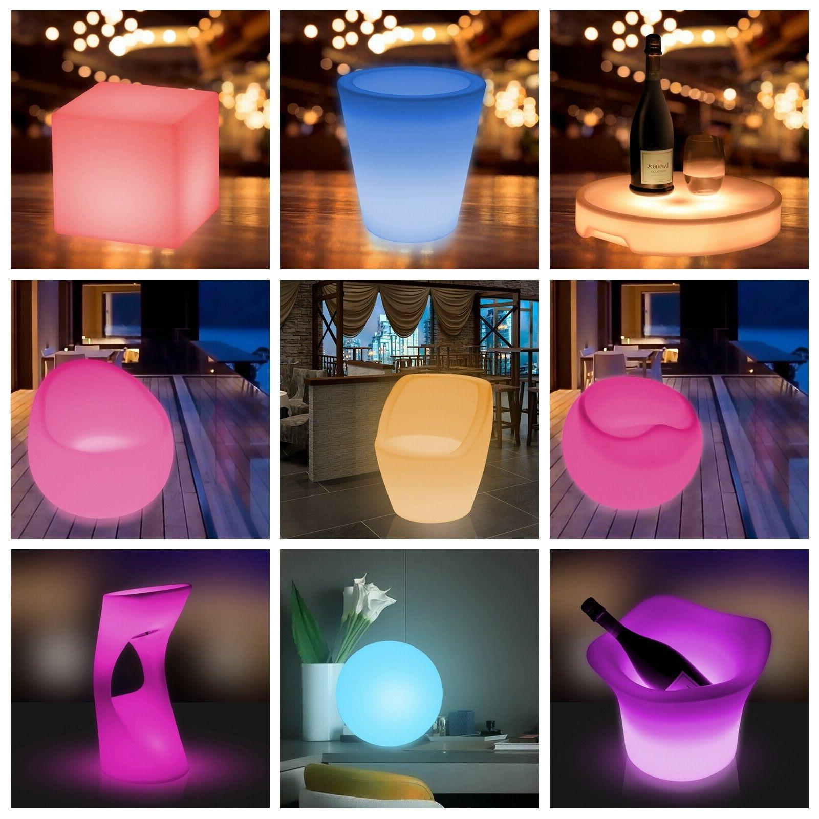 led color light up furniture chairs bar