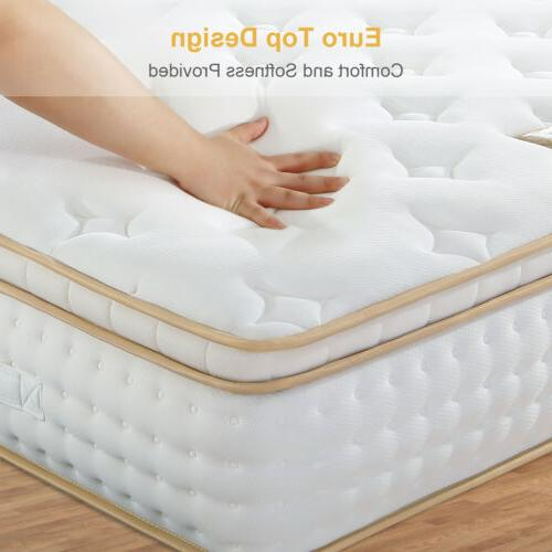 BedStory Mattress inch Gel Memory Cal King Coil Bed