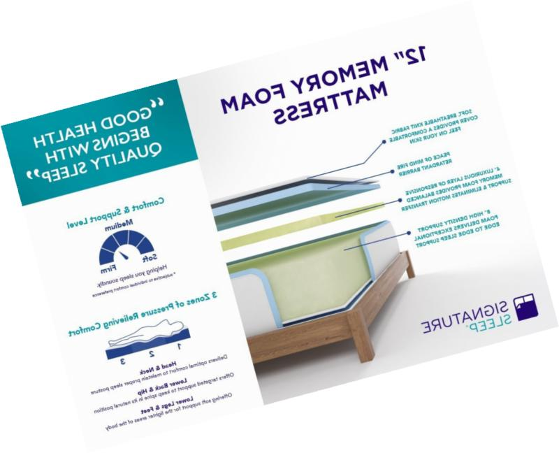 Signature Sleep Memory 12 Inch Mattress,