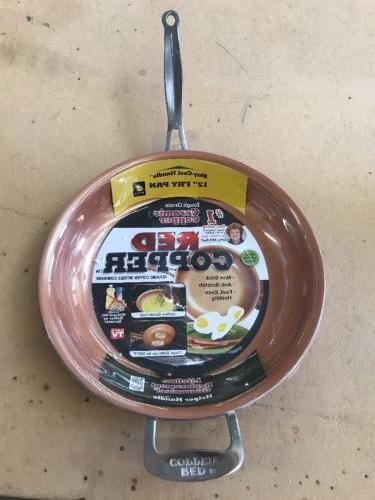 new red copper 12 inch frying pan