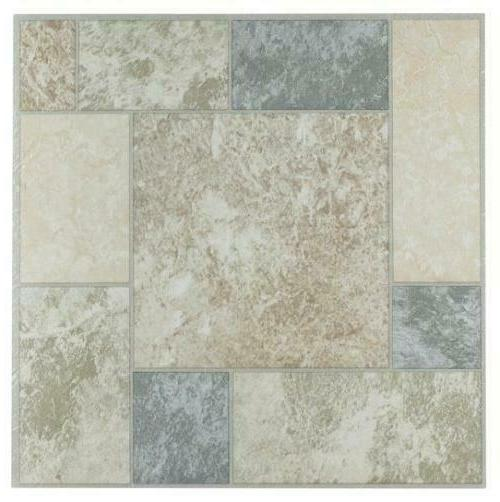 Achim Home Furnishings  Nexus 12-Inch Vinyl Tile, Marble Blo