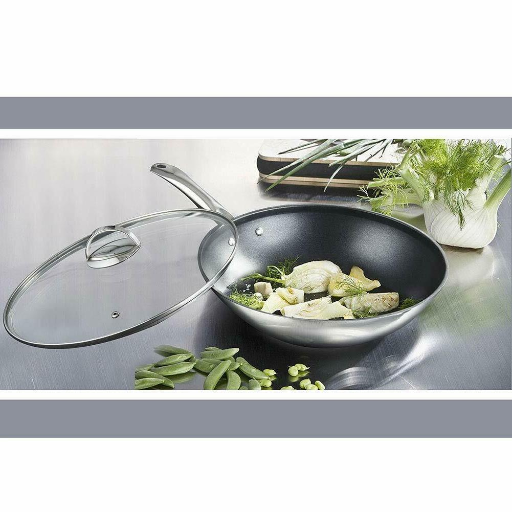nonstick 18 10 stainless steel 12 inch