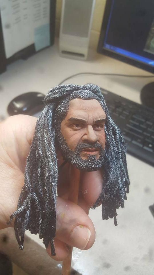 Painted the king ezekiel with rooted ha