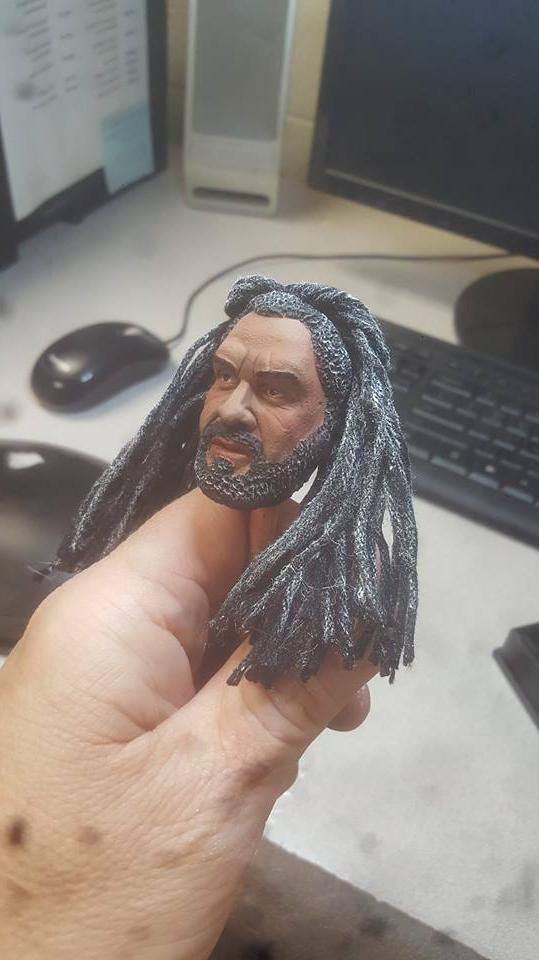 Painted the walking king ezekiel head for 12 new with rooted ha