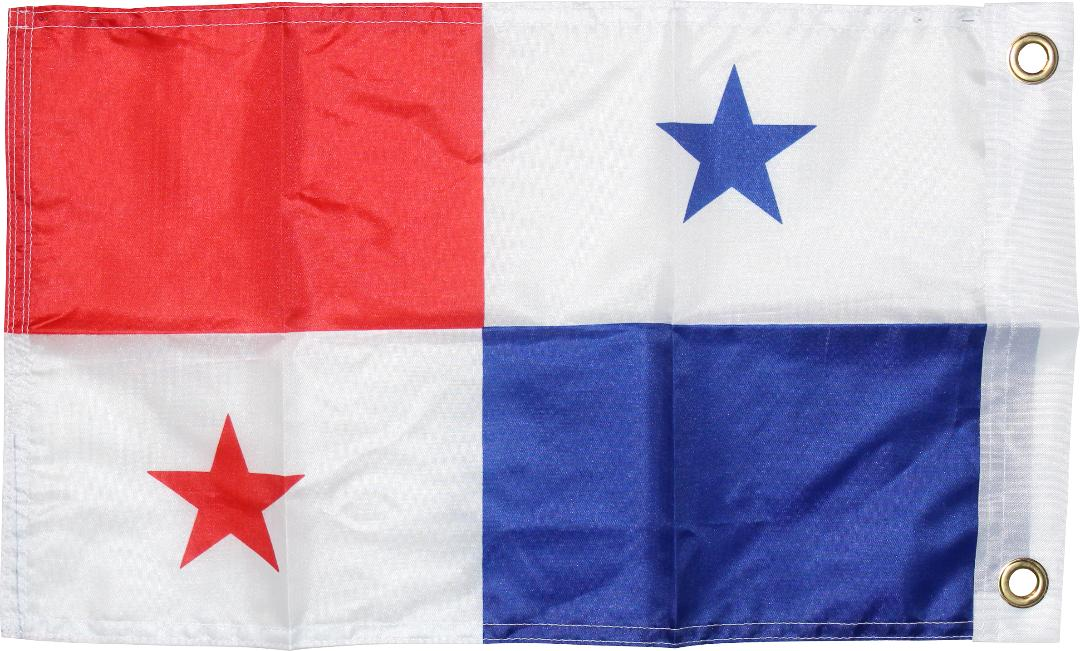 panama boat flag 12inch x 18inch grommets