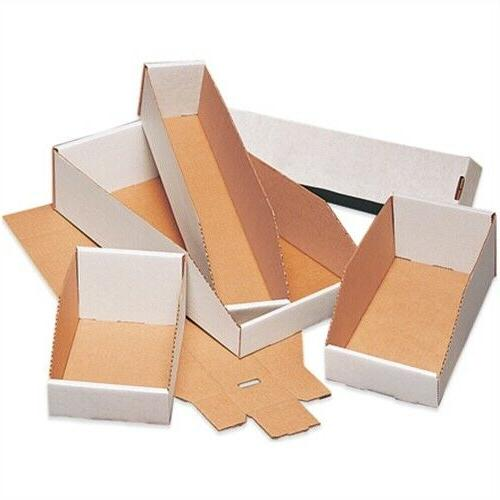 PICK SIZE WHITE CORRUGATED CARDBOARD PARTS BINS BOXES ""