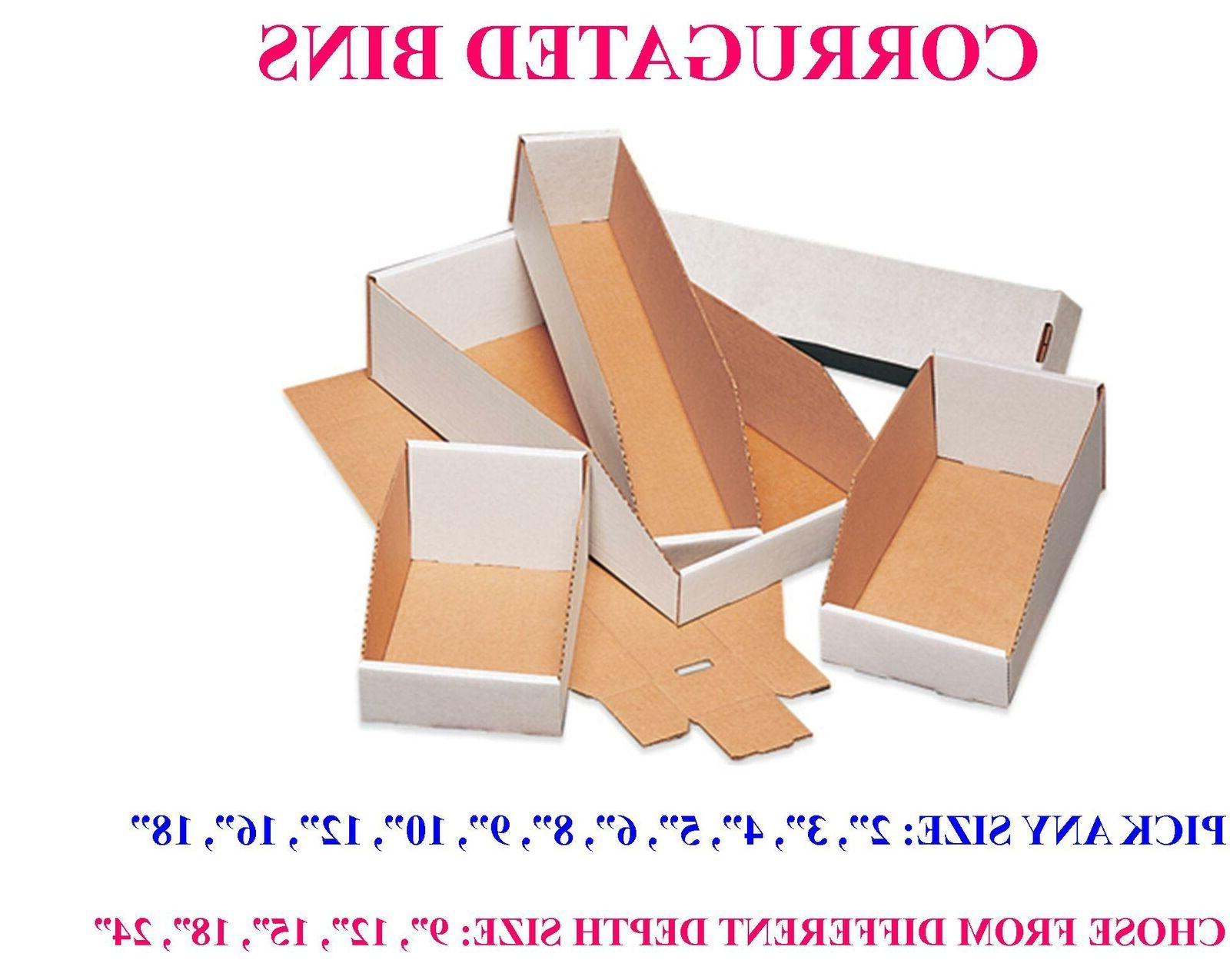 pick size white corrugated cardboard open top