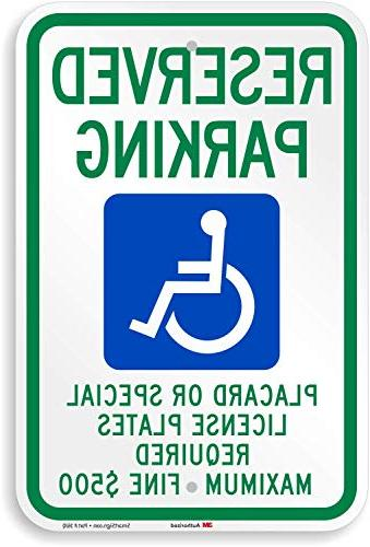 placard or special license plates required handicap