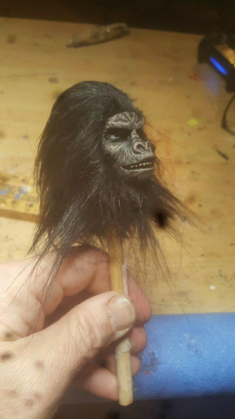 Planet hot toys style rooted ape head 12 1/6