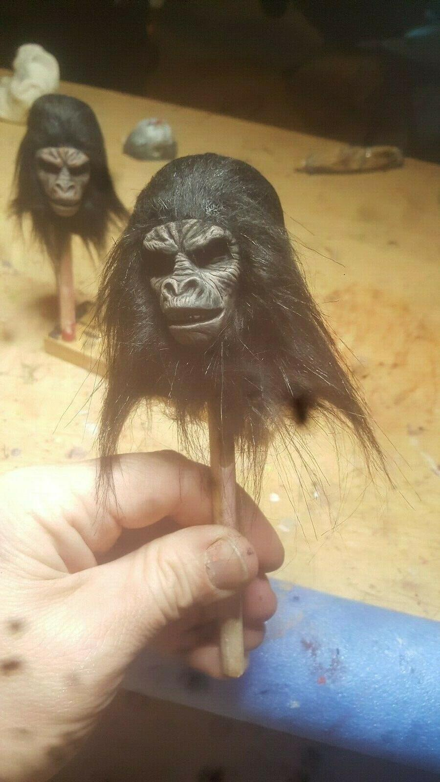 Planet of hot toys style ape soldier head 12 1/6