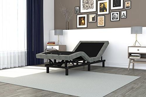 power adjustable upholstered bed base